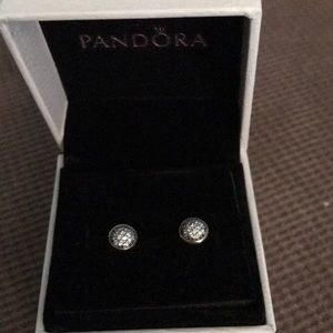 Pandora stud earrings.